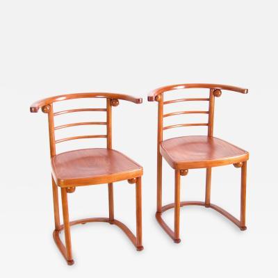 J J Kohn Two Chairs J J Kohn Nr 728 Josef Hoffmann