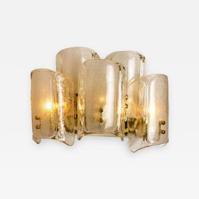 J T Kalmar Kalmar Lighting 1 of the 5 XL Massive Glass Wall Lamps Sconces in the Style of Kalmar W