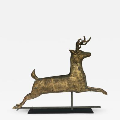 J W Fiske Company American Hollow body Copper Running Deer Weathervane