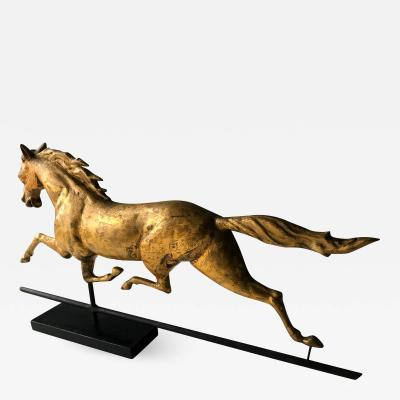 J W Fiske Company An Antique Gilt Running Horse Weather Vane attributed to J W Fiske