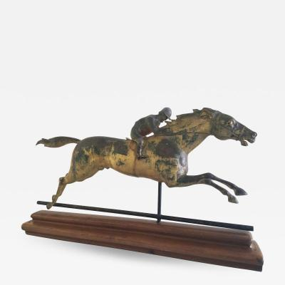 J W Fiske Company HORSE AND JOCKEY WEATHERVANE