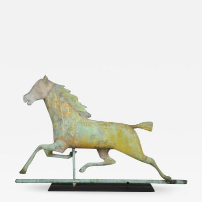 J W Fiske Company LARGE HACKNEY RUNNING HORSE WEATHERVANE