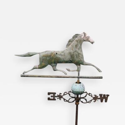 J W Fiske Company Running Horse Weathervane