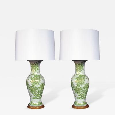 JL Porcelain Co A Finely Decorated Pair of Japanese Porcelain Lamps
