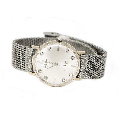 Jaeger LeCoultre Rare Vintage Jaeger Le Coultre 14KT White Gold Wristwatch