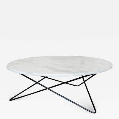 James Devlin Studio Berlin Round Marble Cocktail Table