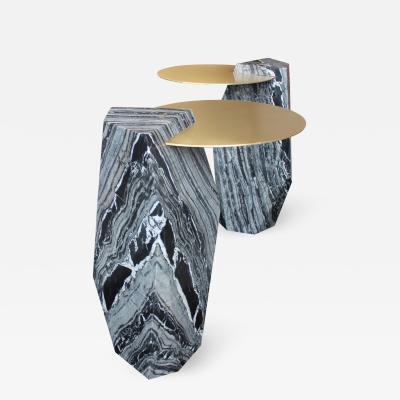 James Devlin Studio Lapidary Sculpted Drinks Table in Solid Kenya Black Marble