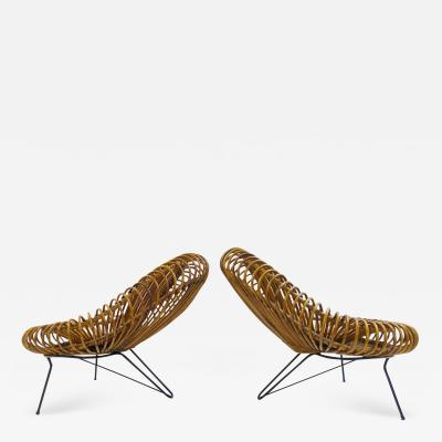 Janine Abraham Dirk Jan Rol Pair of Mid Century Chairs by Janine Abrahams and Dirk Jan Rol