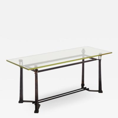 Jean Blasset Andr Guggiari Blasset et Gugarry refined Neo classical coffee table with glass top