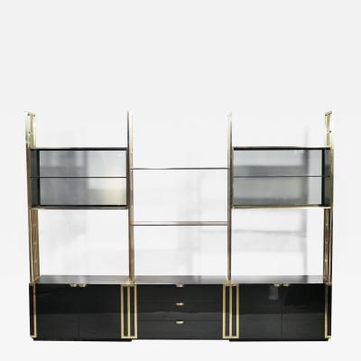 Jean Paul Barray Kim Moltzer Rare Kim Moltzer Lacquer and brass shelves 1970s
