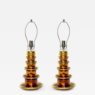 Johanfors Johansfors Gold Glass Totem Lamps