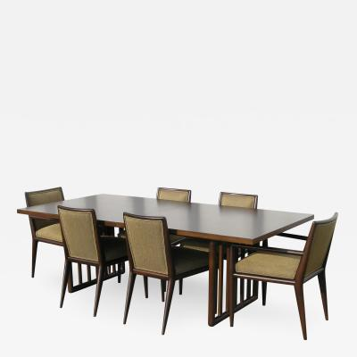 John Widdicomb Co Dining Table with Six Chairs by T H Robsjohn Gibbings for Widdicomb