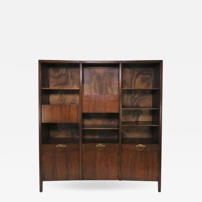 John Widdicomb Co Widdicomb Furniture Co John Widdicomb Bow Front Freestanding Wall Unit Designed by Bert England