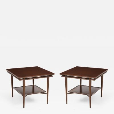 John Widdicomb Co Widdicomb Furniture Co John Widdicomb Walnut Teak Side Tables