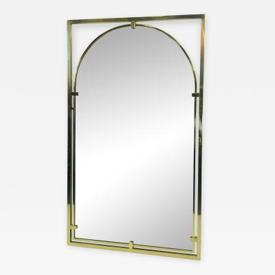John Widdicomb Co Widdicomb Furniture Co MODERNIST BRASS FRAMED MIRROR DESIGNED BY JOHN WIDDICOMB
