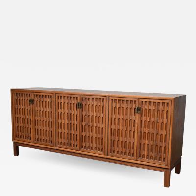 John Widdicomb Co Widdicomb Furniture Co Mid century modern walnut credenza in the style of john stuart widdicomb