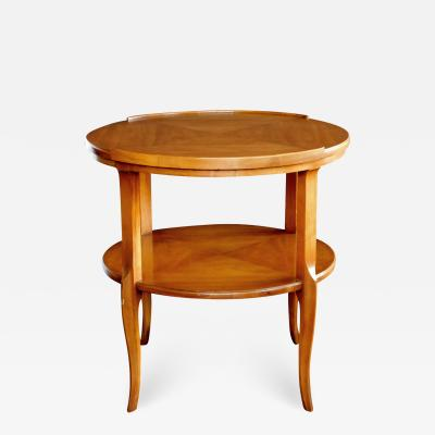 John Widdicomb Co Widdicomb Furniture Co Stylish 1960s Circular Cherrywood Side End Table by Widdicomb