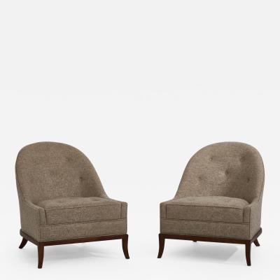 John Widdicomb Co Widdicomb Furniture Co T H Robsjohn Gibbings Slipper Lounge Chairs for Widdicomb