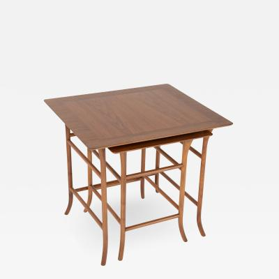John Widdicomb Co Widdicomb Furniture Co Walnut nesting tables inspired by T H Robsjohn Gibbings circa 1990s