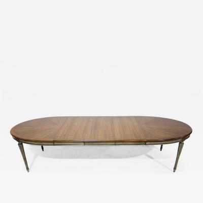 John Widdicomb Co Widdicomb Furniture Co Widdicomb Louis XVI Oval Dining Table in Walnut