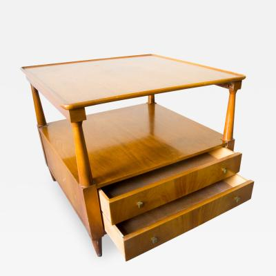 John Widdicomb Co Widdicomb Side Tables with Pull Out Tables