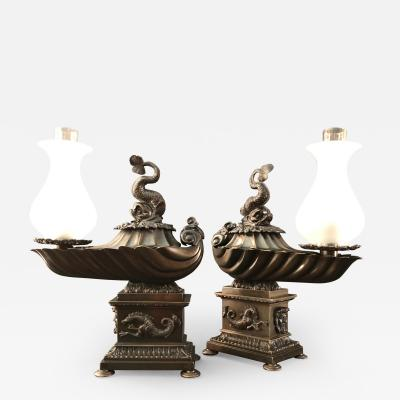 Johnston Brookes Company A Pair of Regency Argands