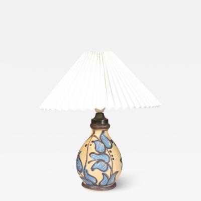 K hler K hler Table lamp of pottery