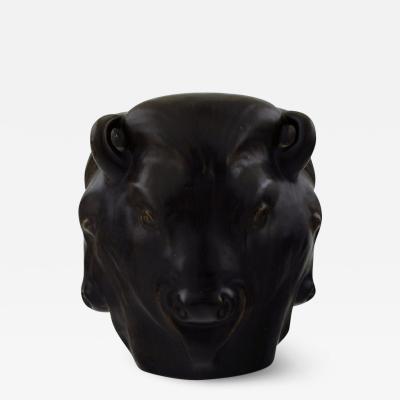 K hler Karl Hansen Reistrup for K hler Bulls heads pottery vase Bull vase