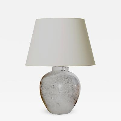 K hler Keramik Large stipple glaze table lamp by K hler