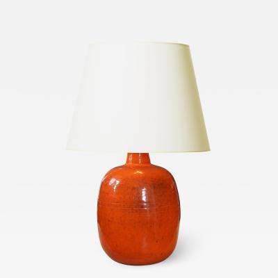K hler Large Mod Lamp in Orange Glaze by Nils Kahler