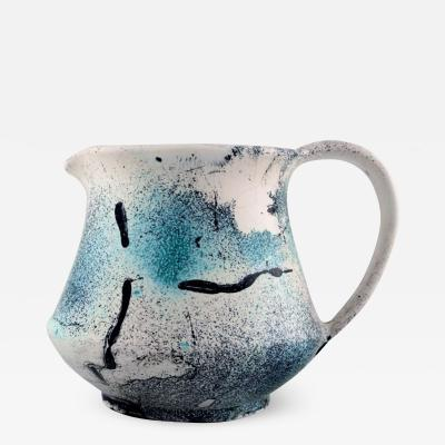 K hler Pitcher decorated with greenish glaze
