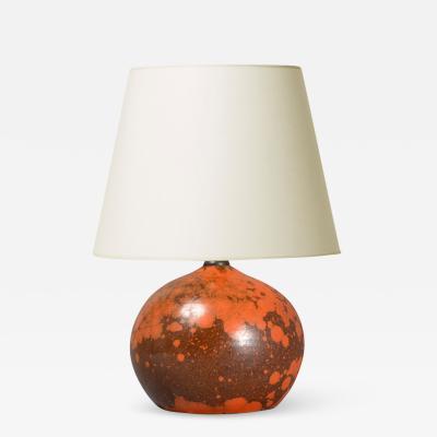 K hler Table lamp in orange port by K hler