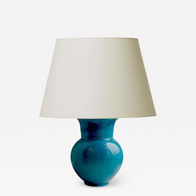 K hler Table lamp in rich turquoise by K hler