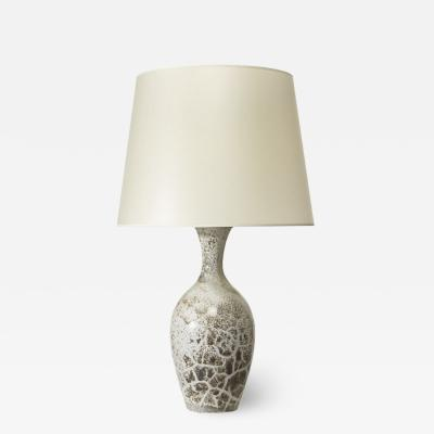 K hler Table lamp with elegant vase form and toasted marshmallow glaze by K hler