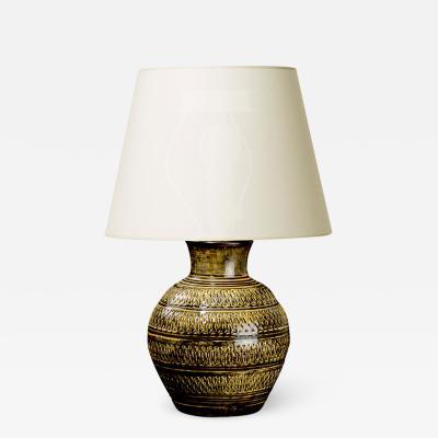 K hler Table lamp with intaglio design by K hler