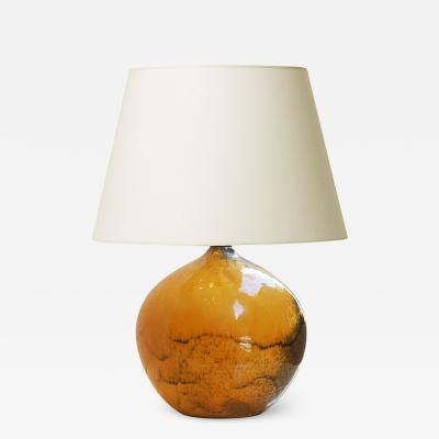 K hler Table lamp with pumpkin form in yellow black by K hler