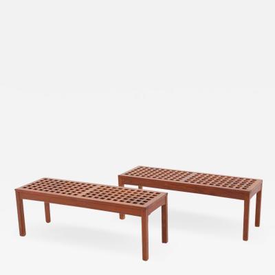 K llemo Scandinavian Benches in Teak by John Vedel Rieper for K llemo 1960s