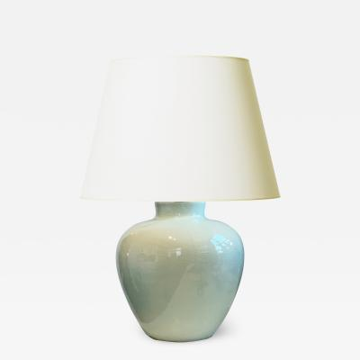 K ramos Exquisite Celadon Glazed Lamp by Keramos