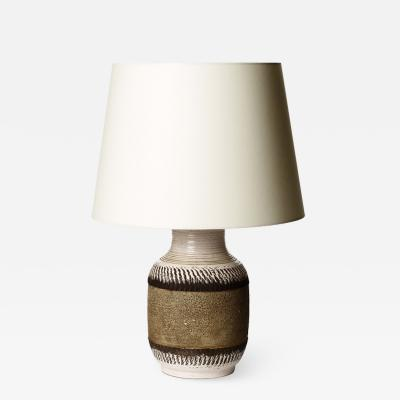 K ramos Textured table lamp with albarello form by K ramos