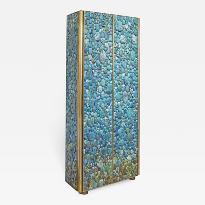 KAM TIN Turquoise Tall cabinet by KAM TIN