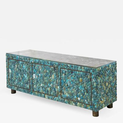 KAM TIN Turquoise and labradorite sideboard by KAM TIN