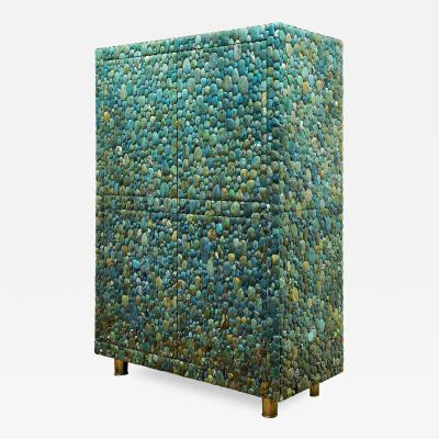 KAM TIN Unique turquoise Buffet Cabinet by KAM TIN