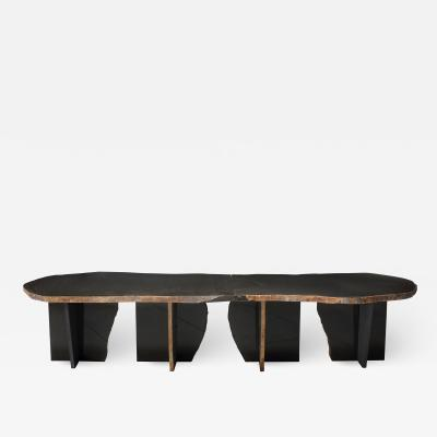 Kaaron Studio Exceptionnal Dat Kan Volcanic Stone Low Table Kaaron and Okurayama Studio