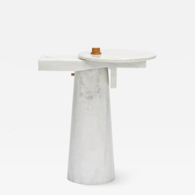 Kaaron Studio Sculptural Marble Gueridon Leopol Signed by Kaaron