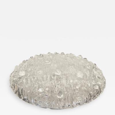 Kaiser Idell Kaiser Leuchten Kaiser Co Heavily Textured Domed Ice Glass Flushmount