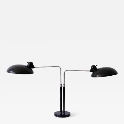 Kaiser Idell Kaiser Leuchten Kaiser Co Two Armed Bauhaus Table Lamp 6660 Super by Christian Dell for Kaiser Idell 1930s