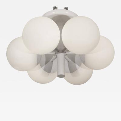 Kaiser Leuchten Six Globe Radial Kaiser Chandelier in White Enamel