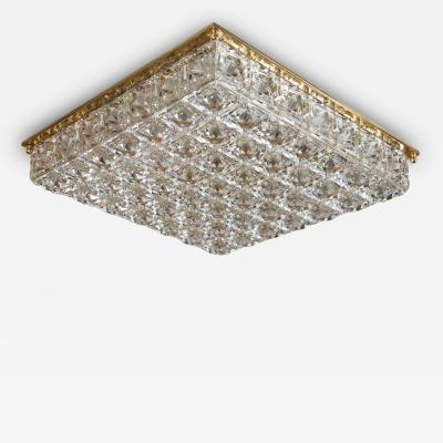 Kalmar Facet Cut Crystal Flush Mount Fixture