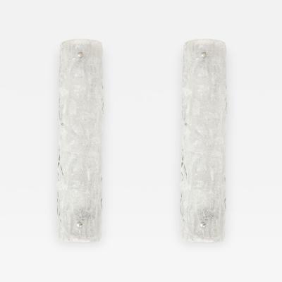 Kalmar Franken KG Kalmar Chiseled Ice Glass Sconces