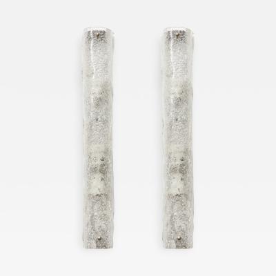 Kalmar Franken KG Kalmar Ice Glass Curved Glass Sconces